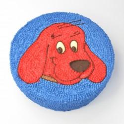 Tort czerwony pies